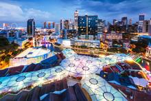 View Of Illuminated Cityscape During Dusk