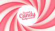 Sweet candy background with place for your content