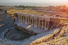 Aerial View Of Hierapolis Theatre In Turkey
