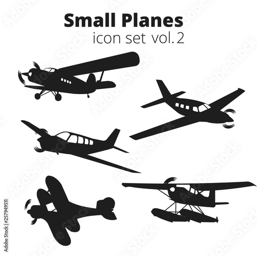 Small planes vector illustration set Fototapet