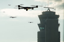 Group Of Drones Approaching Th...
