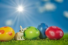 Easter Background For Greeting...