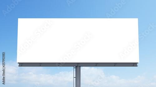 Fotografía  mockup blank billboard white space on bluesky background, 3d rendering