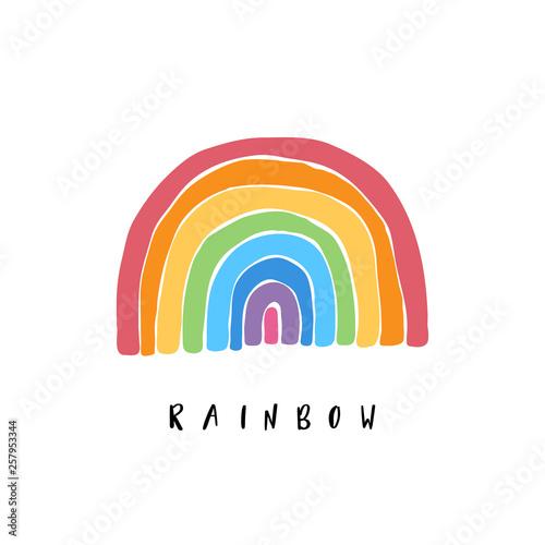 Fotografie, Obraz Art rainbow color brush stroke