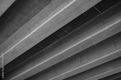 Türaufkleber Darknightsky Set of parallel beams out oc reinforced concrete