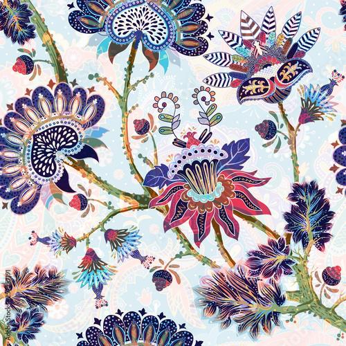 Vászonkép Jacobean seamless pattern