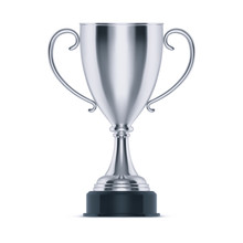 3d Silver Cup Or Trophy For Second Place, Goblet