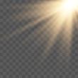 Sunlight lens flare