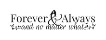 Wall Decals, Forever And Alway...