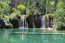 Hanging Lake, Colorado. Crystal Clear Waters And Beautiful Scenery.