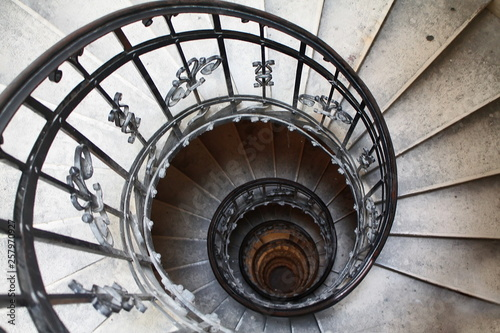 Garden Poster Lighthouse Spiral stairs