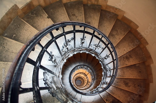 Spiral stairs Tablou Canvas
