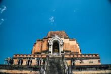 Wat Chedi Luang In Chiang Mai,...