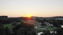 Wide Aerial, Parthenon Replica In Nashville