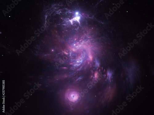 Starfield, stars and space dust scattered throughout the universe. Vast open interstellar space, cosmic abstract artwork. Distant swirling galaxies, interplanetary travel, astral artwork.