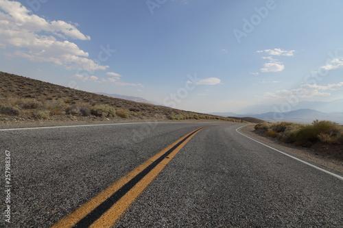 Poster Route 66 Winding Road in Desert