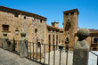 The medieval village of Caceres, Spain