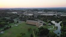 Aerial, Sunset Over Parthenon In Nashville
