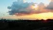 Industry Skyline 8899 Sunset under big pastel cloud 58s