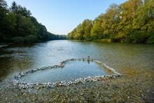 Heart-shaped Piles Of Isar Peb...