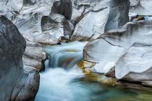The Verzasca River Flows Throu...