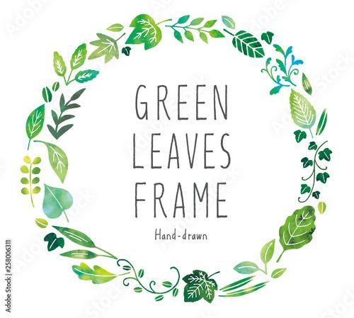 緑の葉フレーム Wall mural