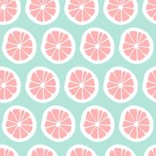Cute Abstract Orange Seamless Pattern