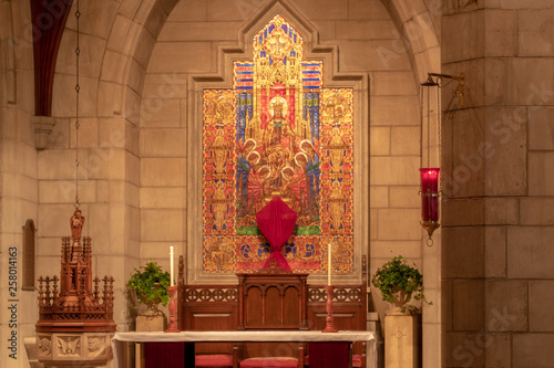 Episcopal Church of Bethesda By The Sea Interior and Exterior Design in Palm Bea Canvas Print