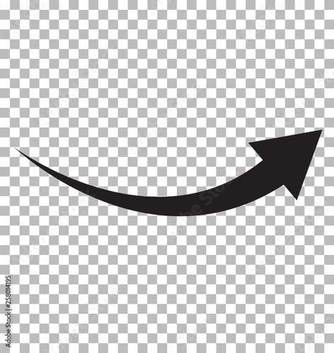 black arrow icon on transparent background Wallpaper Mural