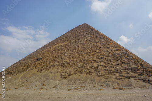 Dahshur, Egypt: The Red Pyramid was the third pyramid built by Old Kingdom Pharaoh Sneferu.