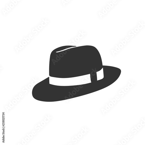 Cuadros en Lienzo  creative simple cowboy hat vector trendy design style
