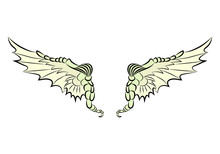 Dragon Pair Of Wing Ornament Tattoo