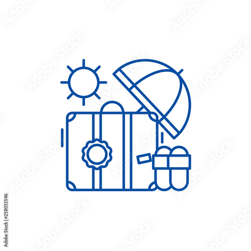 Fotografía Cruise line concept icon