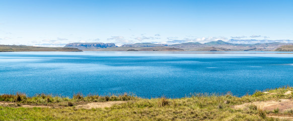 Landscape panorama of Sterkfontein Dam in South Africa