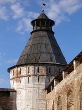 Round Tower, Boris And Gleb Monastery, Borisoglebsk, Rostov District, Yaroslavl Region, Russia