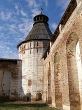 Round Tower And Fortress Wall, Boris And Gleb Monastery, Borisoglebsk, Rostov District, Yaroslavl Region, Russia