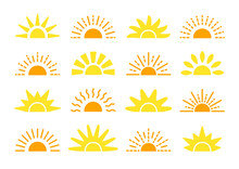 Sunrise & Sunset Symbol Collec...