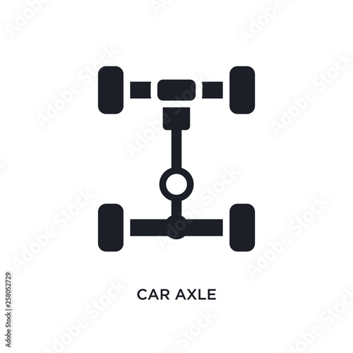 car axle isolated icon Wallpaper Mural