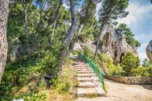 Der Naturbogen Arco Naturale In Capri, Italien