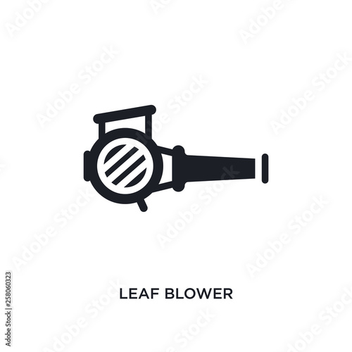 Photo leaf blower isolated icon