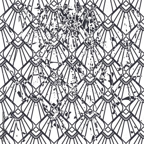wektorowy-nowozytny-geometryczny-plytka-wzor-z-grunge-skutkiem-streszczenie-art-deco-retro-starodawny-tlo