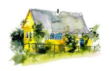 Rural Houses. Village. Waterco...
