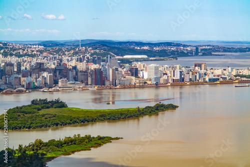 aerial view of Porto Alegre in Brazil Canvas Print
