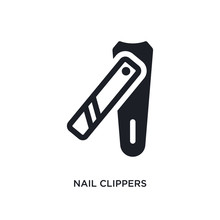 Nail Clippers Isolated Icon. Simple Element Illustration From Hygiene Concept Icons. Nail Clippers Editable Logo Sign Symbol Design On White Background. Can Be Use For Web And Mobile