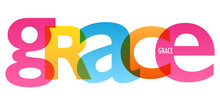 GRACE Colorful Typography Banner