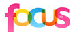 FOCUS colorful typography banner