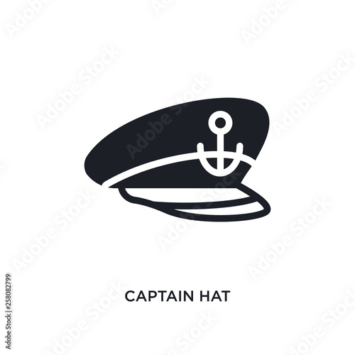 Cuadros en Lienzo captain hat isolated icon