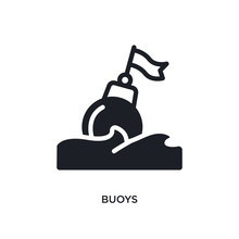 Buoys Isolated Icon. Simple Element Illustration From Nautical Concept Icons. Buoys Editable Logo Sign Symbol Design On White Background. Can Be Use For Web And Mobile