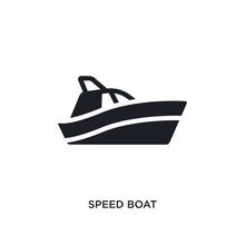 Speed Boat Isolated Icon. Simp...