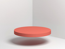Red Cylindrical Podium Flying ...
